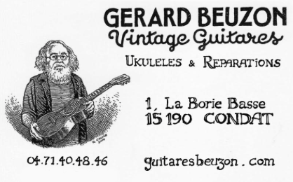 Gérard Beuzon Guitares vintage